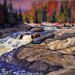Rivière aux rapides de printemps