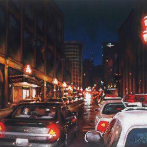 Rue de la Montagne, le soir