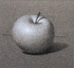 Tons clair sur dessin pomme.