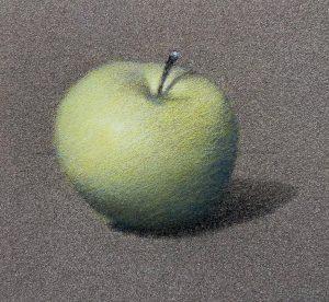 Deuxième couche sur glacis de la pomme.