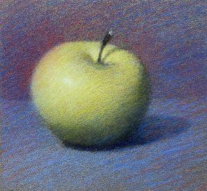 couleurs de fond derrière la pomme.