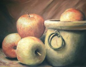 Nature morte-pommes.