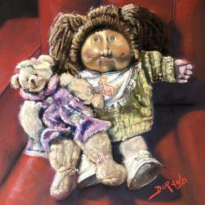 Ma poupée et un des premiers toutous de ma fille