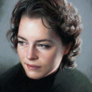 pastel portrait of Julia Haney by Alex Kasyan